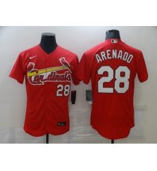 Men's St. Louis Cardinals #28 Nolan Arenado Nike Red Alternate Official Replica Jersey