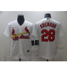 Men's St. Louis Cardinals #28 Nolan Arenado Nike White Alternate Official Replica Player Jersey