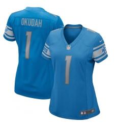 Women's Detroit Lions #1 Jeff Okudah Nike Blue 2020 NFL Draft First Round Pick Game Jersey.webp