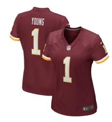 Women's Washington Redskins #1 Chase Young Nike Burgundy 2020 NFL Draft First Round Pick Game Jersey.webp