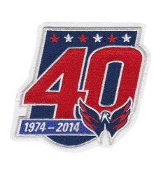 Stitched 2014-15 Washington Capitals 40th Team Anniversary Jersey Patch