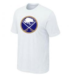 NHL Men's Buffalo Sabres Big & Tall Logo T-Shirt - White