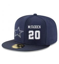 NFL Dallas Cowboys #20 Darren McFadden Stitched Snapback Adjustable Player Hat - Navy/White