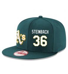 MLB Men's Oakland Athletics #36 Terry Steinbach Stitched New Era Snapback Adjustable Player Hat - Green/White