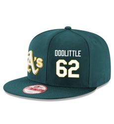 MLB Men's Oakland Athletics #62 Sean Doolittle Stitched New Era Snapback Adjustable Player Hat - Green/White