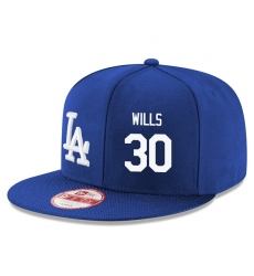 MLB Men's New Era Los Angeles Dodgers #30 Maury Wills Stitched Snapback Adjustable Player Hat - Royal Blue/White