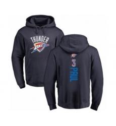 Basketball Oklahoma City Thunder #3 Chris Paul Navy Blue Backer Pullover Hoodie