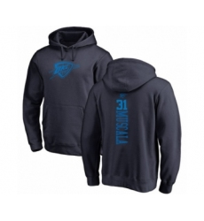 Basketball Oklahoma City Thunder #31 Mike Muscala Navy Blue One Color Backer Pullover Hoodie