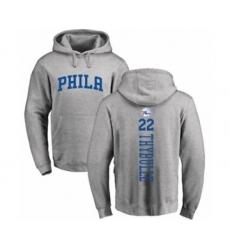 Basketball Philadelphia 76ers #22 Mattise Thybulle Ash Backer Pullover Hoodie