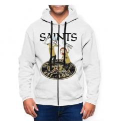 Saint Men's Zip Hooded Sweatshirt