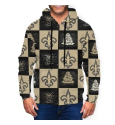 Saints Team Ugly Christmas Men's Zip Hooded Sweatshirt