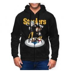 Steeler Men's Zip Hooded Sweatshirt