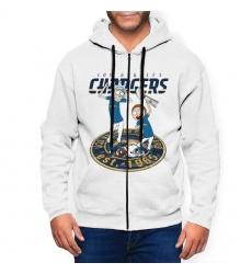 Steelers Team Ugly Christmas Men's Zip Hooded Sweatshirt