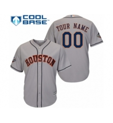 Youth Houston Astros Customized Authentic Grey Road Cool Base 2019 World Series Bound Baseball Jersey