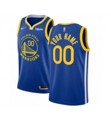 Youth Golden State Warriors Customized Swingman Royal Finished Basketball Jersey - Icon Edition