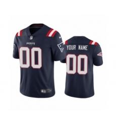 New England Patriots Custom Navy 2020 Vapor Limited Jersey
