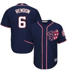 Men's Majestic Washington Nationals #6 Anthony Rendon Replica Navy Blue Alternate 2 Cool Base MLB Jersey