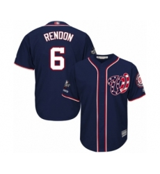 Youth Washington Nationals #6 Anthony Rendon Authentic Navy Blue Alternate 2 Cool Base 2019 World Series Champions Baseball Jersey