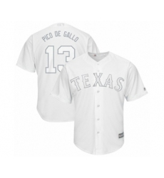 Men's Texas Rangers #13 Joey Gallo  Pico de Gallo  Authentic White 2019 Players Weekend Baseball Jersey