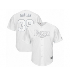 Men's Tampa Bay Rays #39 Kevin Kiermaier  Outlaw  Authentic White 2019 Players Weekend Baseball Jersey