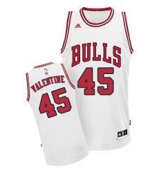 Youth Adidas Chicago Bulls #45 Denzel Valentine Swingman White Home NBA Jersey