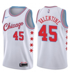 Youth Nike Chicago Bulls #45 Denzel Valentine Swingman White NBA Jersey - City Edition