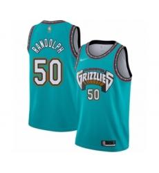 Men's Memphis Grizzlies #50 Zach Randolph Authentic Green Hardwood Classic Basketball Jersey