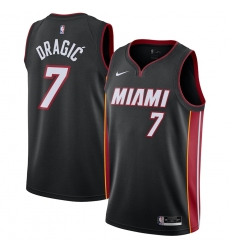 Men's Miami Heat #7 Goran Dragic Nike Black 2020-21 Swingman Jersey