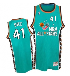 Men's Mitchell and Ness Charlotte Hornets #41 Glen Rice Swingman Light Blue 1996 All Star Throwback NBA Jersey
