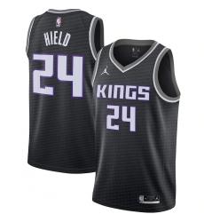Men's Sacramento Kings #24 Buddy Hield Jordan Brand Black 2020-21 Swingman Jersey