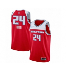 Men's Sacramento Kings #24 Buddy Hield Swingman Red Basketball Jersey - 2019-20 City Edition