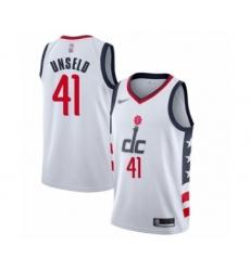 Men's Washington Wizards #41 Wes Unseld Swingman White Basketball Jersey - 2019 20 City Edition