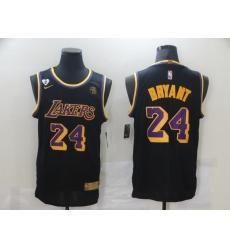 Men's Nike Los Angeles Lakers #24 Kobe Bryant Swingman Black NBA Jersey