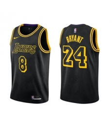 Men's Nike Los Angeles Lakers Kobe Bryant Swingman Black NBA Jersey - City Edition