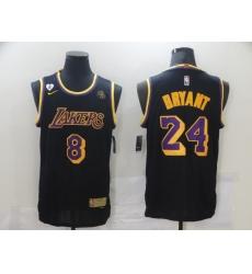 Men's Nike Los Angeles Lakers Kobe Bryant Swingman Black NBA Jersey