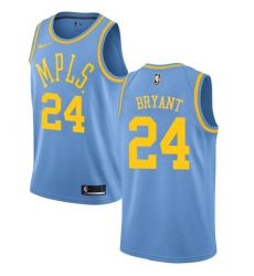 Women's Nike Los Angeles Lakers #24 Kobe Bryant Authentic Blue Hardwood Classics NBA Jersey