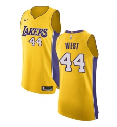 Youth Nike Los Angeles Lakers #44 Jerry West Authentic Gold Home NBA Jersey - Icon Edition