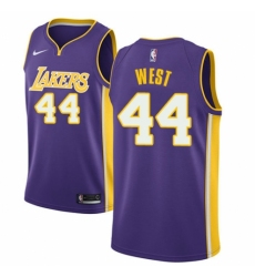 Youth Nike Los Angeles Lakers #44 Jerry West Authentic Purple NBA Jersey - Icon Edition