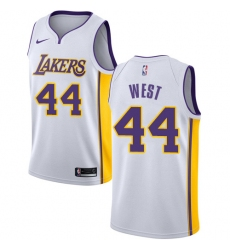 Youth Nike Los Angeles Lakers #44 Jerry West Authentic White NBA Jersey - Association Edition