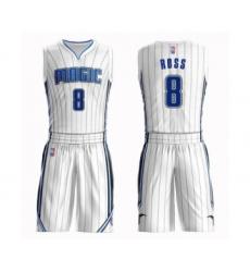 Men's Orlando Magic #8 Terrence Ross Swingman White Basketball Suit Jersey - Association Edition