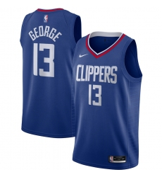 Men's LA Clippers #13 Paul George Nike Royal 2020-21 Swingman Jersey
