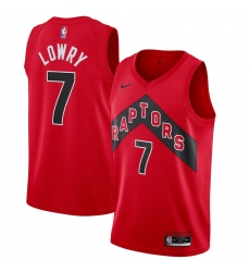 Youth Toronto Raptors #7 Kyle Lowry Nike Red 2020-21 Icon Swingman Jersey