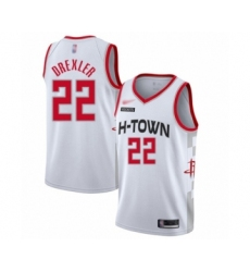 Men's Houston Rockets #22 Clyde Drexler Swingman White Basketball Jersey - 2019 20 City Edition