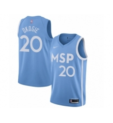 Men's Minnesota Timberwolves #21 Kevin Garnett Swingman Blue Basketball Jersey - 2019 20 City Edition