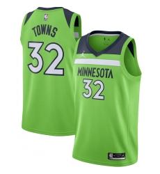 Men's Minnesota Timberwolves #32 Karl-Anthony Towns Jordan Brand Green 2020-21 Swingman Jersey