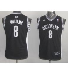 Nets #8 Deron Williams Black Stitched Youth NBA Jersey