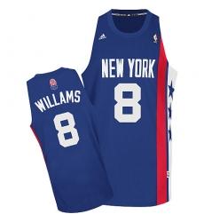 Nets #8 Deron Williams Blue ABA Hardwood Classic Stitched NBA Jersey