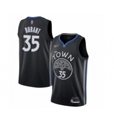 Men's Golden State Warriors #35 Kevin Durant Swingman Black Basketball Jersey - 2019 20 City Edition