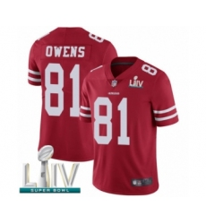 Men's San Francisco 49ers #81 Terrell Owens Red Team Color Vapor Untouchable Limited Player Super Bowl LIV Bound Football Jersey