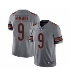 Youth Chicago Bears #9 Jim McMahon Limited Silver Inverted Legend Football Jersey